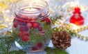 Cranberry Floating Candle Table Decor