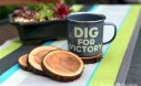 Enamel Dig For Victory Mug And Natural Branch Coasters Project Via Garden Therapy Coasters Recycle1