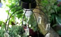 Fairy Garden Solar Light made from hanging bsaket