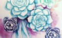 How To Paint Watercolor Succulents Step 8