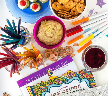 come on get crafty host an adult coloring party