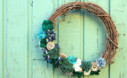 Pretty Felted Succulent Wreath