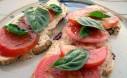 Tomato Basil On Olive Bread