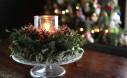 Christmas candle wreath tutorial