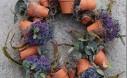 Flower Pot Wreath From 32 Terracotta Pot Hacks.
