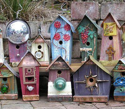 Trash to Treasure Birdhouse Inspiration