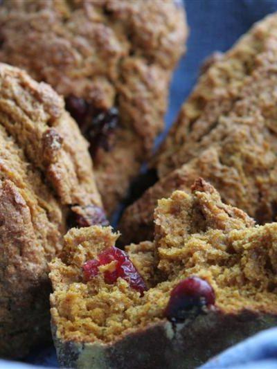 cranberry walnut pumpkin scones