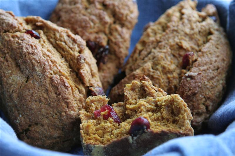 cranberry walnut pumpkin scones