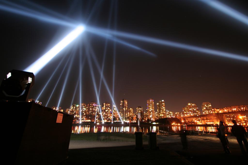 Vectorial Elevation Light Show Sculpture False Creek Vancouver 1