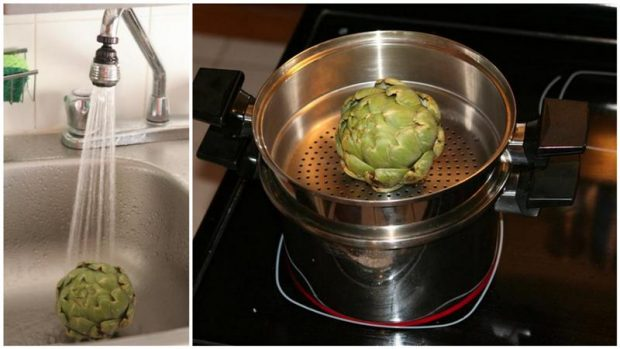 artichoke prepping and steaming