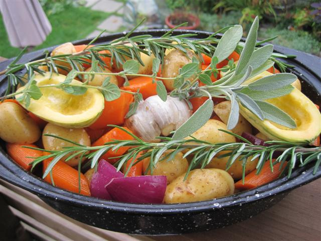 Harvest For Roasted Vegetables With Fresh Herbs