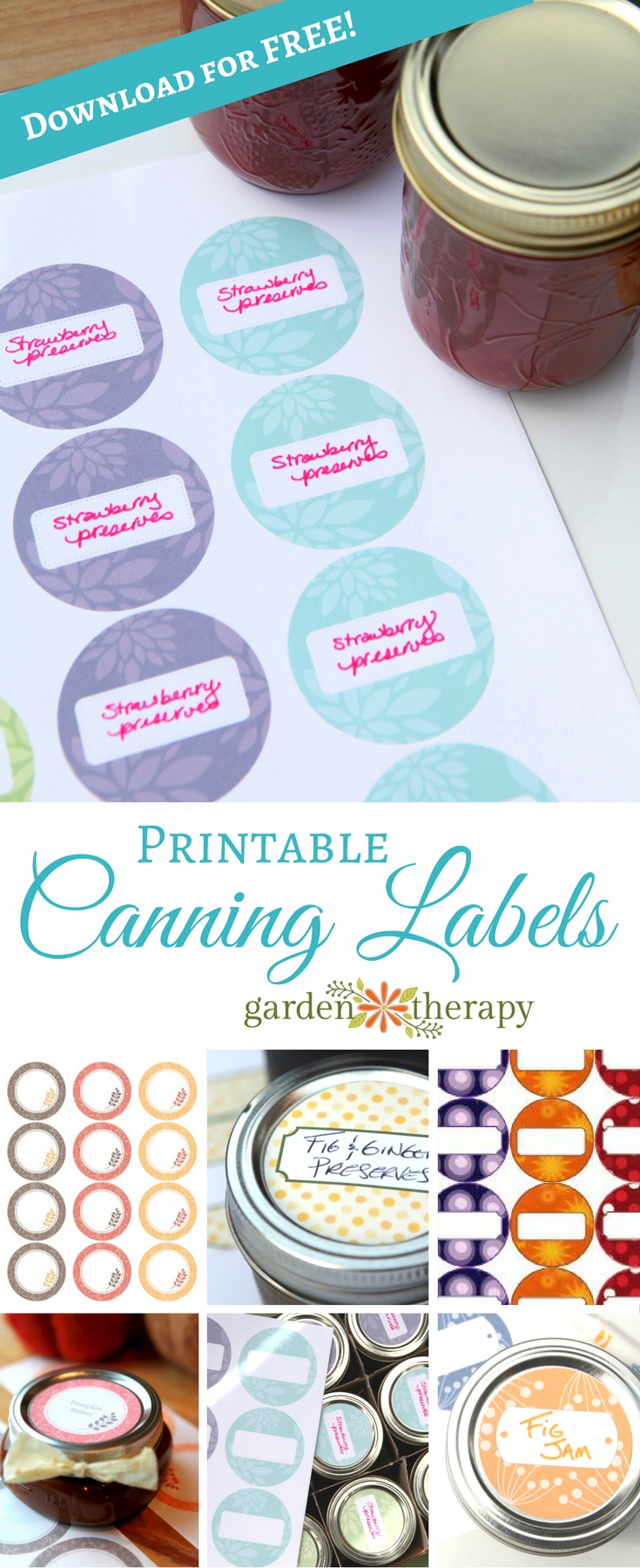 Free Printable Canning Labels - many designs to choose from