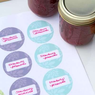 These Printable Canning Labels are the Essential Party Dress for Your Jam!