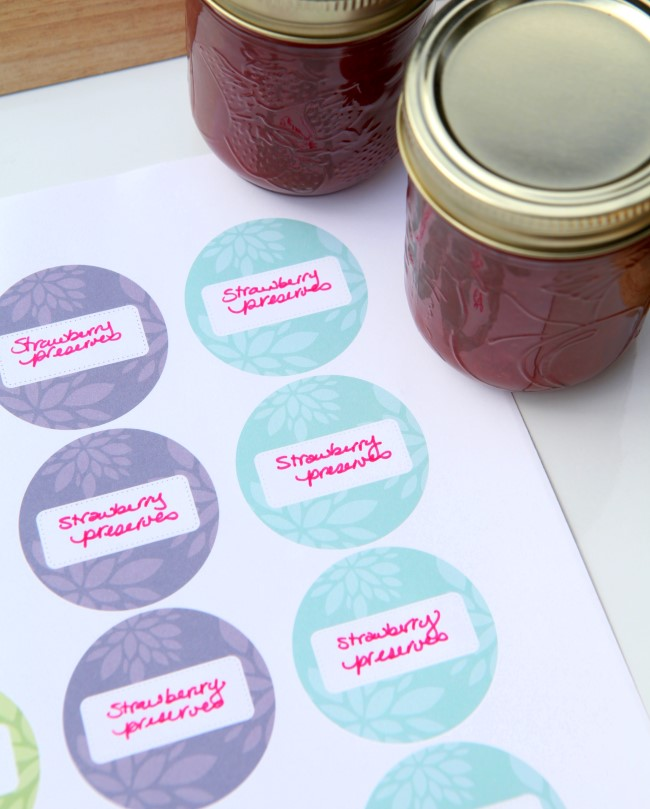Free Printable Jam Labels Dahlia Print