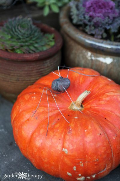 Rock Spider Sculptures as Garden Art