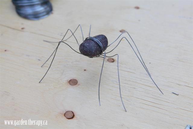 DIY Rock Spiders Step 5