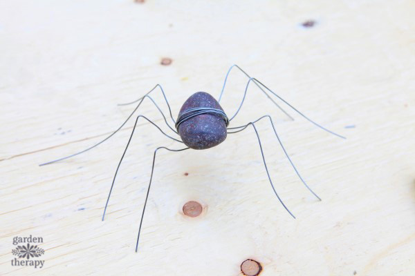 Rock spider for the garden.