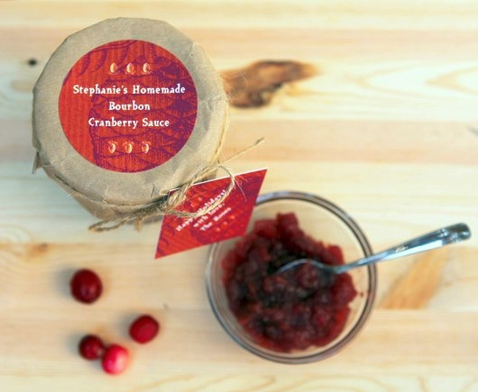 Holiday Cranberry sauce recipe with bourbon