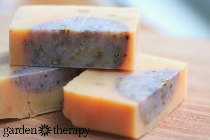 Lemongrass and Ginger Cold Process handmade soap recipe with all-natural ingredients