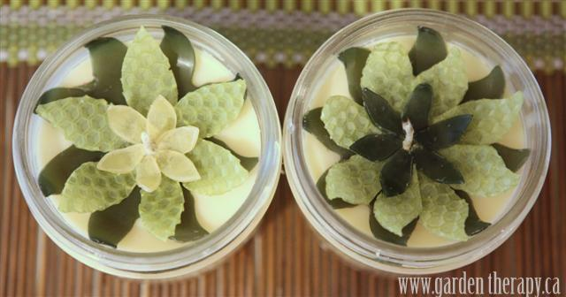 Lotus Flower Beeswax  Soy Mason Jar Candles