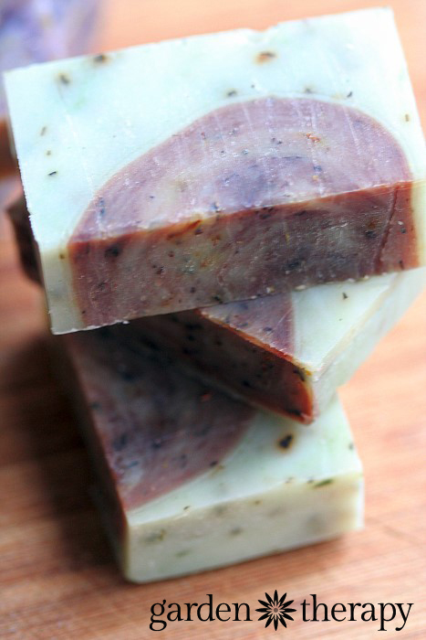Rosemary and Spearmint Energizing Cold Process handmade soap recipe with all-natural ingredients
