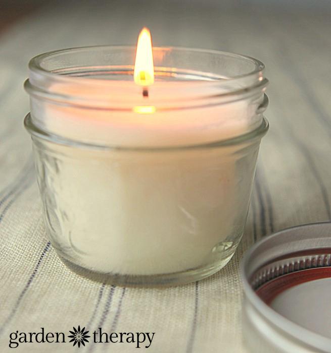 Soy Candle in a mason jar