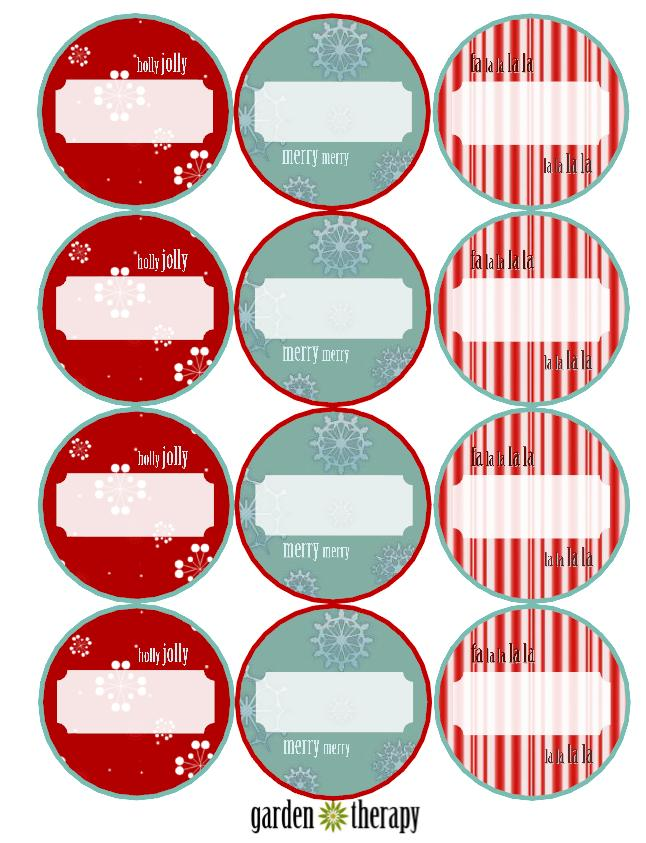 Free Holiday Printable Canning Labels 2.5 Inch
