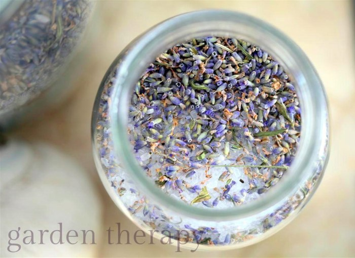 How to make lavender bath salts for a relaxing soak after a long day of gardening
