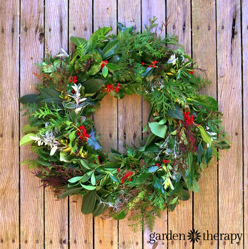 This Evergreen Wreath Is Made Completely From Trees And Shrubs In The Garden