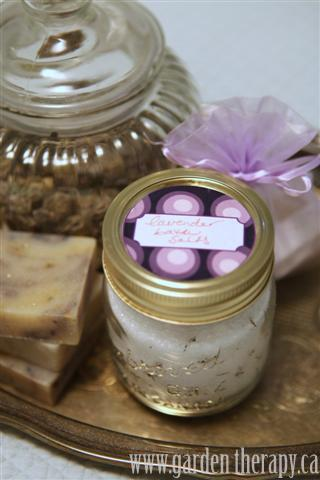 easy DIY Lavender Bath Salts with label