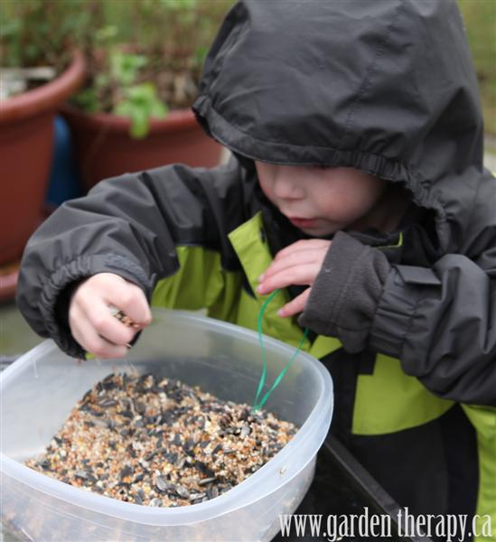 making pine cone bird feeders and lots of other ways to organically control pests in your garden