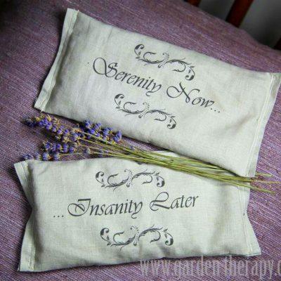 Serenity Now! DIY Lavender Eye Pillows