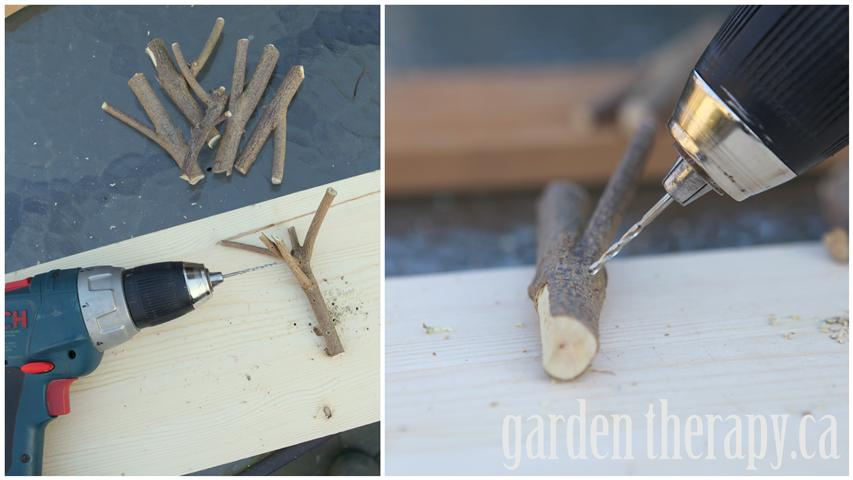 making twig branches