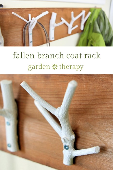 Fallen Branch Coat Rack DIY Project