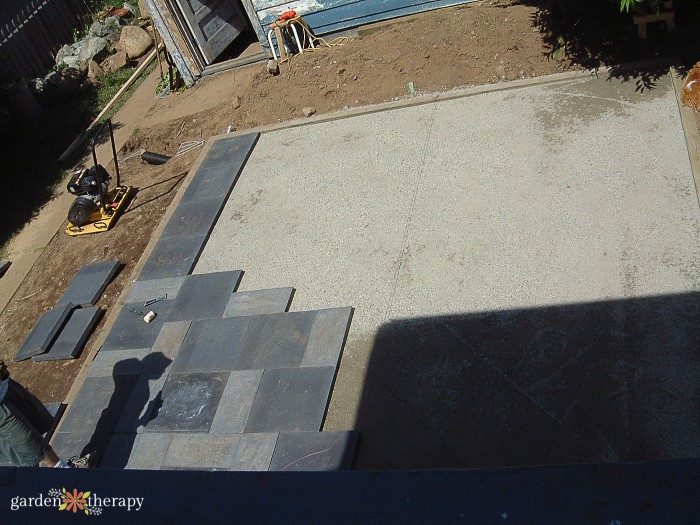 Laying Patio Stones