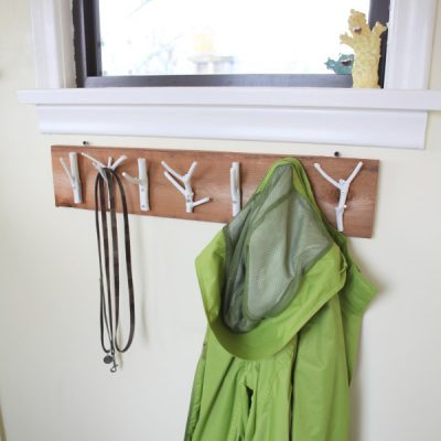 Bring the Outdoors in with This DIY Natural Branch Coat Rack