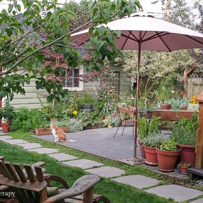 Backyard Patio Project Update: My Healing Garden Backyard Remodel