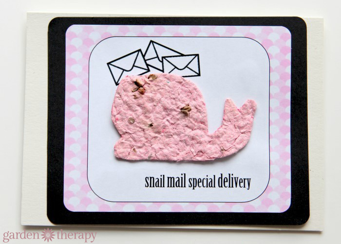 Snail Mail Special Delivery  from How to Make Seed Paper Valentines