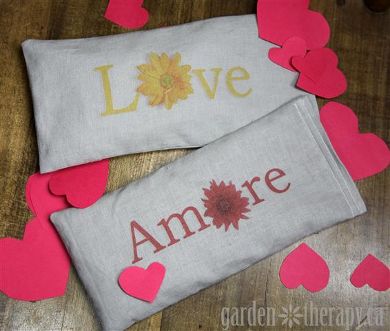 Valentines Day Printable Lavender Eye Pillows Small