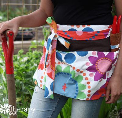 DIY Summer Blooms Garden Apron