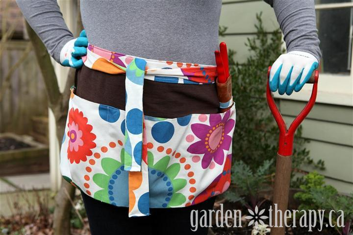 How To Make A DIY Garden Apron Tutorial.