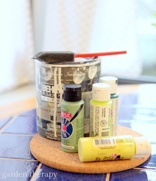 Materials to paint mason jar vases
