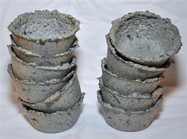 Sheedded paper pots