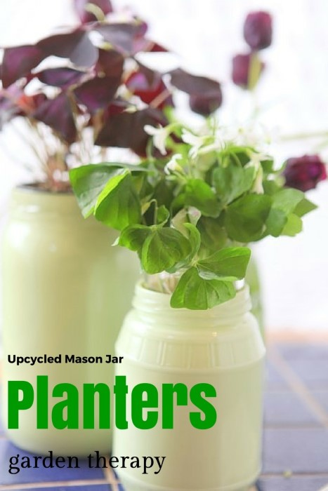 Upcycled Mason Jar Planters hack that keeps them shiny on the outside