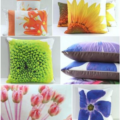 Handmade Garden Flower Pillows for Mother's Day