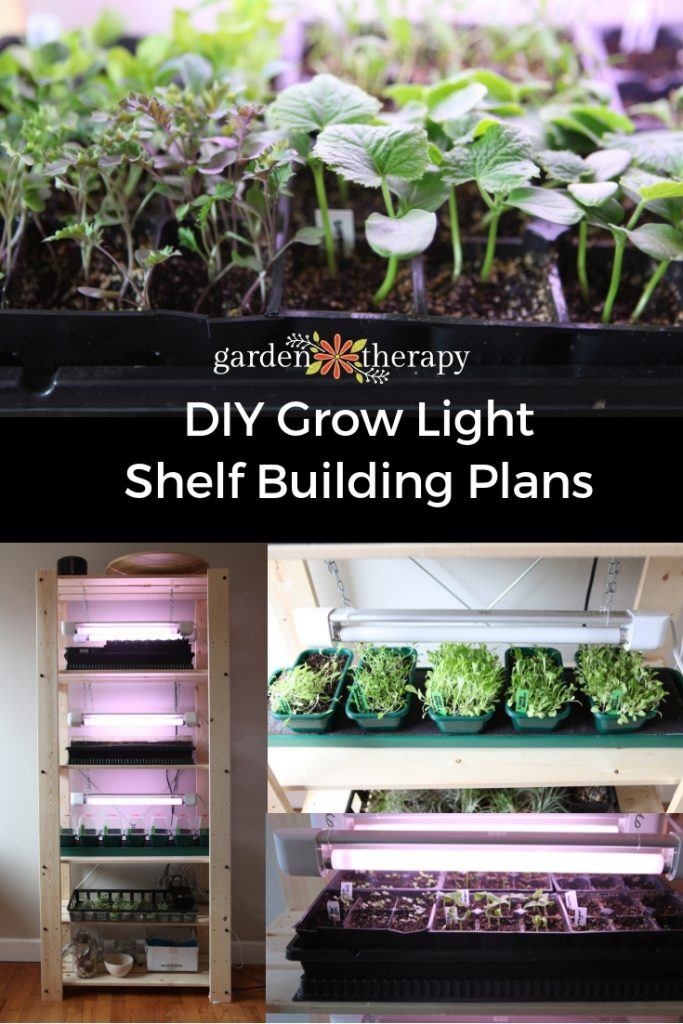 Grow Light Shelf Building Plans