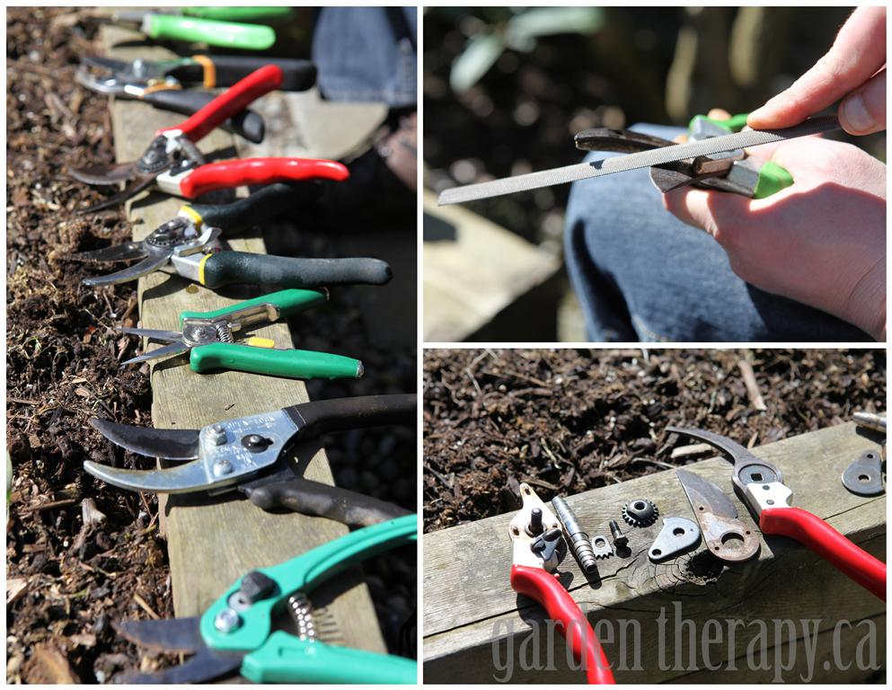 Garden Tool Care and DIY Storage Bin Garden Therapy