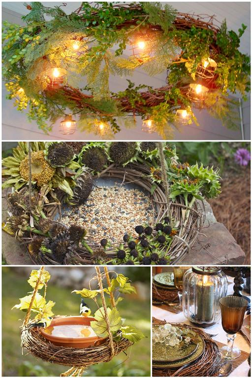 Interesting uses for a grapevine wreath projects and ideas