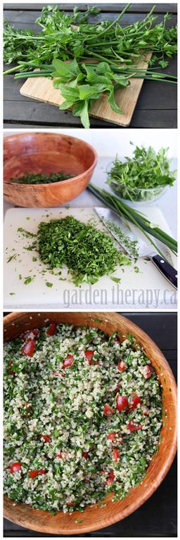 Tabbouleh Recipe. Recipe via Garden Therapy #salad #quinoa