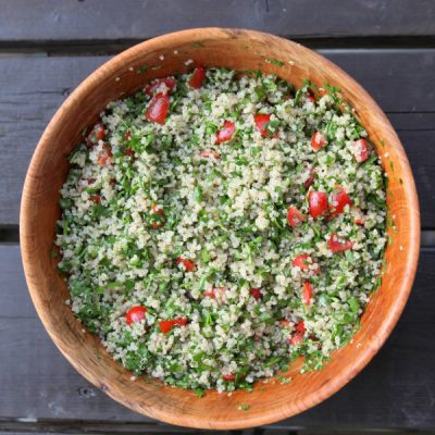 Quinoa Tabbouleh: a Beautiful Fresh Herb Salad
